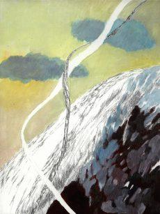 Winterreise | 2012 | Wachstempera auf Karton | 21.9 x 31.9 cm