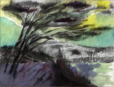Winterreise | 2012 | Wachstempera auf Karton | 30 x 23 cm