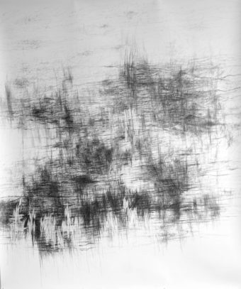 ohne Titel | 2014 | Bleistift auf Papier | 150 x 179 cm