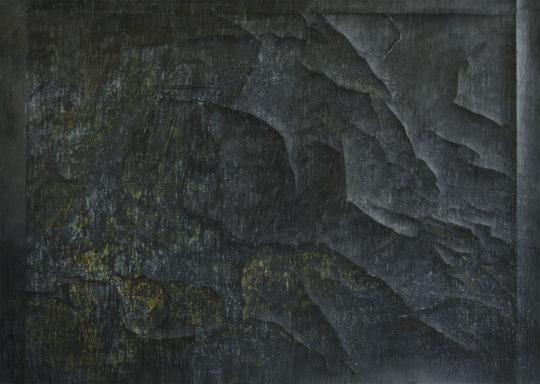 Fresko | 2017 | Graphitstift über Monotypie | 62.5 x 88 cm