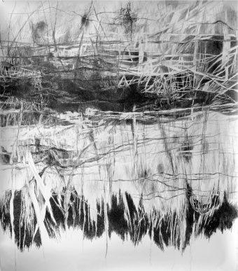 ohne Titel | 2013 | Bleistift auf Papier | 150 x 174 cm