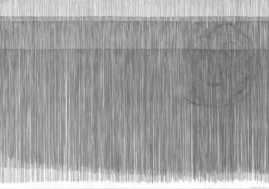 4 x Ausatmen | 2016 | Atempartitur | Bleistift auf Papier | 88 x 62 cm
