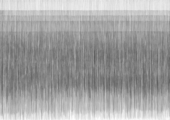 Atemgewebe | 2016 | Bleistift auf Papier | 88 x 62 cm