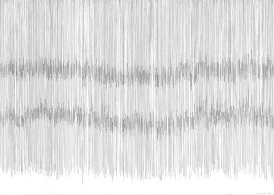 Drei Atemstriche | Atempartitur | 2016 | Bleistift | 88 x 62 cm