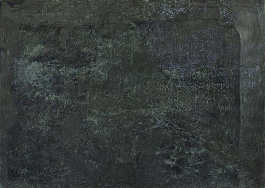 Fresko | 2017 | Graphitstift über Monotypie | 162 x 88 cm