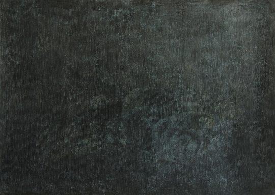 Schlaf | Mahdi | 2017 | Monotypie und Bleistift auf Papier | 88 x 62 cm