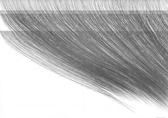 weg_weg_weg_weg | 2016 | Atempartitur | Bleistift auf Papier | 88 x 62 cm