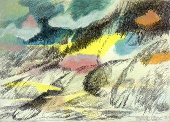 Winterreise | 2012 | Wachstempera auf Karton | 15 x 18 cm